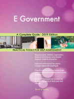 E Government A Complete Guide - 2019 Edition