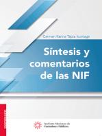 Síntesis y comentarios de las NIF