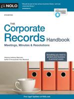 Corporate Records Handbook, The