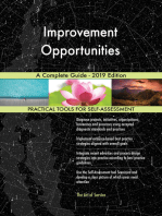 Improvement Opportunities A Complete Guide - 2019 Edition