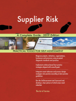 Supplier Risk A Complete Guide - 2019 Edition