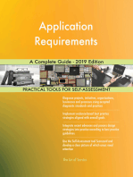 Application Requirements A Complete Guide - 2019 Edition