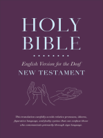 Holy Bible English Version for the Deaf, New Testament