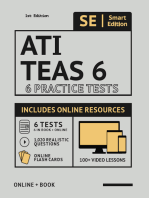 ATI TEAS 6 Practice Tests Workbook: 6 Full Length Practice Test Workbook Both In Book + Online, 1,020 Realistic Questions and Online Flashcards for all subjects for the TEAS Test of Essential Academic Skills