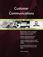 Customer Communications A Complete Guide - 2019 Edition