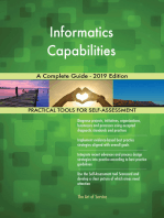 Informatics Capabilities A Complete Guide - 2019 Edition
