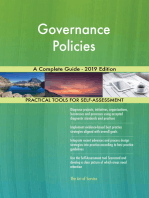 Governance Policies A Complete Guide - 2019 Edition