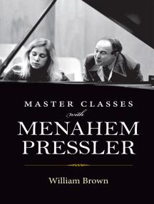 Master Classes with Menahem Pressler