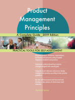 Product Management Principles A Complete Guide - 2019 Edition