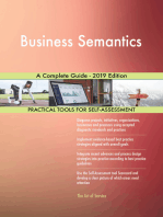 Business Semantics A Complete Guide - 2019 Edition