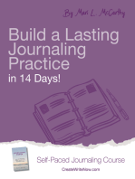 Build a Lasting Journaling Practice in 14 Days!