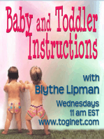 Baby and Toddler Instructions Welcomes Guest, Dr. Nina Shapiro 10-17-2012