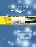 ECM Program Managers A Complete Guide - 2019 Edition