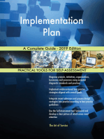Implementation Plan A Complete Guide - 2019 Edition