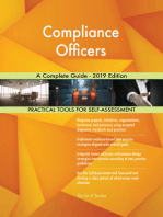 Compliance Officers A Complete Guide - 2019 Edition