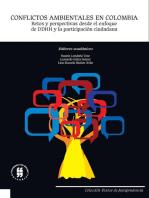 Conflictos ambientales en Colombia: Retos y perspectivas desde el enfoque de DDHH y la participación ciudadana