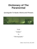 Dictionary of The Paranormal