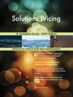 Solutions Pricing A Complete Guide - 2019 Edition