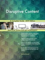 Disruptive Content A Complete Guide - 2019 Edition