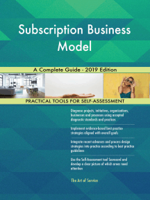 Subscription Business Model A Complete Guide - 2019 Edition