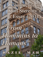 "Comments on Kim Sterelny's Essay (2011) ""From Hominins to Humans"""