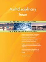 Multidisciplinary Team A Complete Guide - 2019 Edition