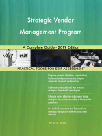 Strategic Vendor Management Program A Complete Guide - 2019 Edition
