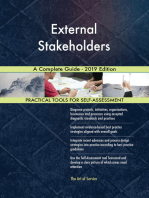 External Stakeholders A Complete Guide - 2019 Edition
