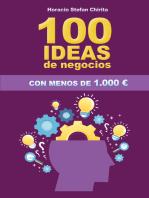 100 Ideas De Negocios Con Menos De 1.000€