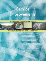 Service Improvements A Complete Guide - 2019 Edition