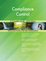 Compliance Control A Complete Guide - 2019 Edition