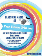 Classical Magic 41 - For Easy Piano Air With Variations Aylesford Gnossienne 1 La Belle Helene Waltz Letter Names Embedded In Noteheads for Quick and Easy Reading