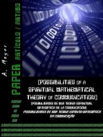 Possibilidades De Uma Teoria Espírito Matemática Da Comunicação