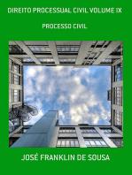 Direito Processual Civil Volume Ix