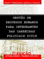 Gestão De Recursos Humanos Para Integrantes Das Carreiras Policiais Civis