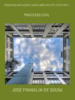 Processo Das AÇÕes Cautelares No Cpc/2015 Vol I