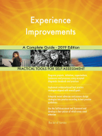 Experience Improvements A Complete Guide - 2019 Edition