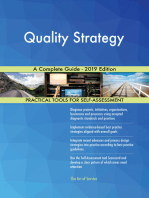 Quality Strategy A Complete Guide - 2019 Edition
