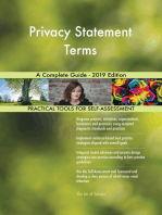 Privacy Statement Terms A Complete Guide - 2019 Edition