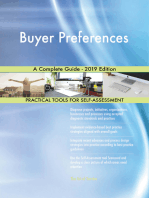 Buyer Preferences A Complete Guide - 2019 Edition
