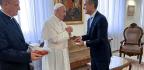 LA Mayor Eric Garcetti meets Pope Francis