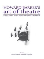 Howard Barker's art of theatre