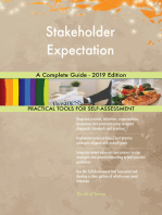 Stakeholder Expectation A Complete Guide - 2019 Edition