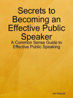 Secrets to Becoming an Effective Public Speaker