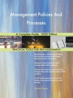 Management Policies And Processes A Complete Guide - 2020 Edition