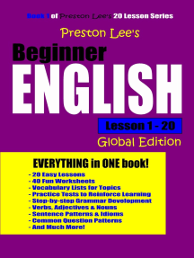 Preston Lee's Beginner English Lesson 1: 20 Global Edition