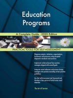 Education Programs A Complete Guide - 2020 Edition