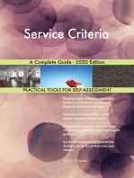 Service Criteria A Complete Guide - 2020 Edition