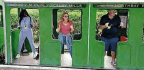 Kylie Minogue Performs The Loco-motion On Scarborough Seaside Line
