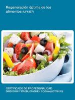 UF1357 - Regeneración óptima de los alimentos